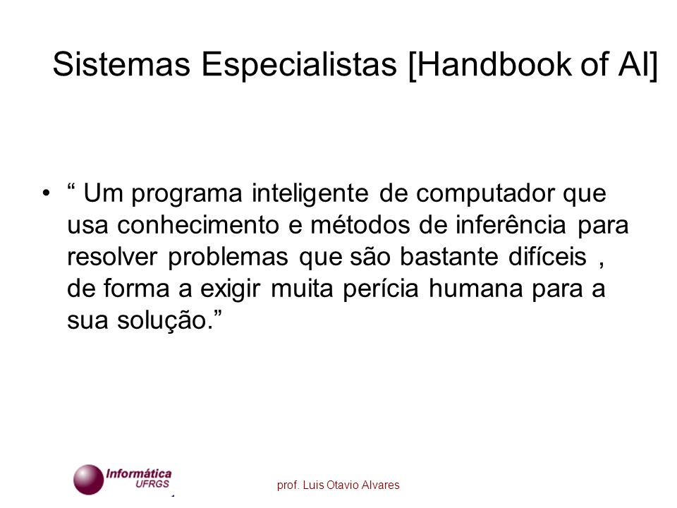 Sistemas Especialistas [Handbook of AI]